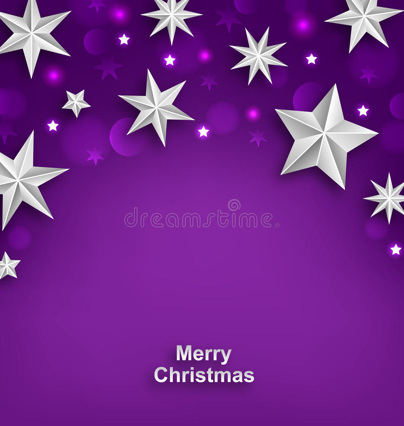 Purple Abstract Celebration Background with Silver royalty free illustration