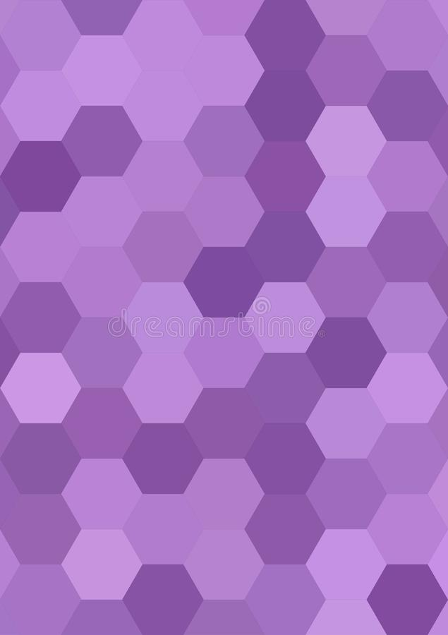 Purple abstract hexagonal honey comb background stock illustration
