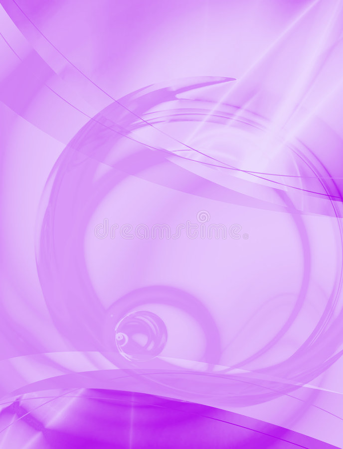 Purple Abstract Layout. A 3D abstract layout you can use as a template for any design piece royalty free illustration