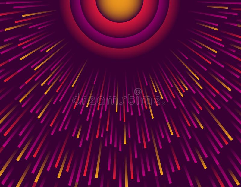 Purple abstract modern background with circle of color rays. Cover Design template for the presentation, brochure, web, banner, vector illustration