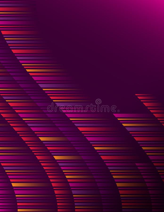 Purple abstract modern background with color horizontal lines. Cover Design template for the presentation, brochure, web, banner, vector illustration