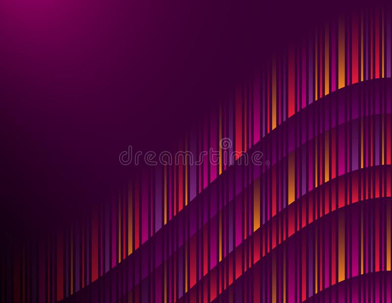 Purple abstract modern background with color vertical lines. Cover Design template for the presentation, brochure, web, banner, royalty free illustration