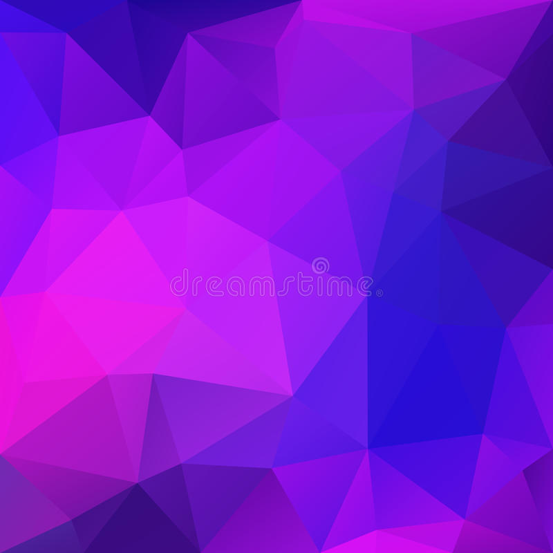 Purple Abstract Polygonal Background royalty free illustration