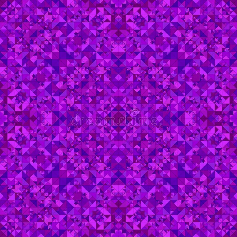 Purple abstract repeating triangle mosaic kaleidoscope wallpaper pattern vector illustration
