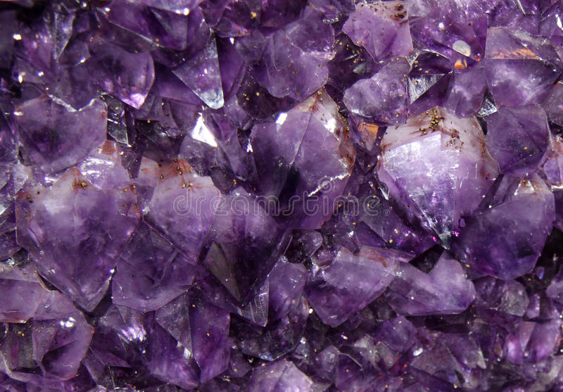The purple amethyst background royalty free stock photography
