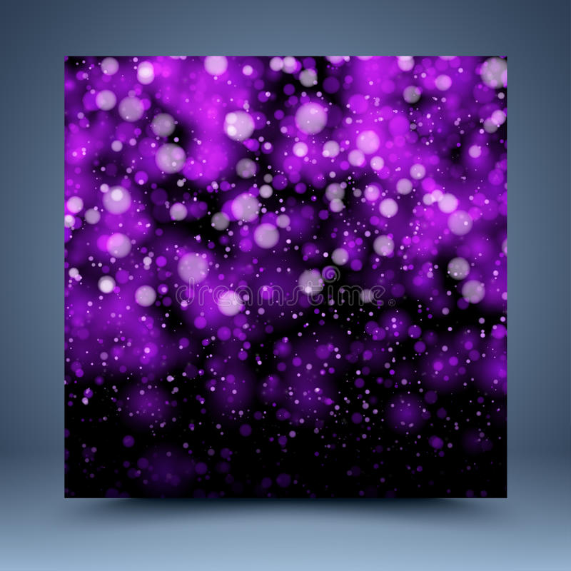 Free Purple And Black Bokeh Vector Abstract Background Royalty Free Stock Photo - 35995255