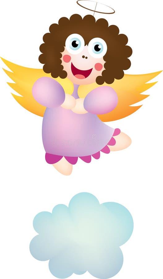 Purple angel stock illustration