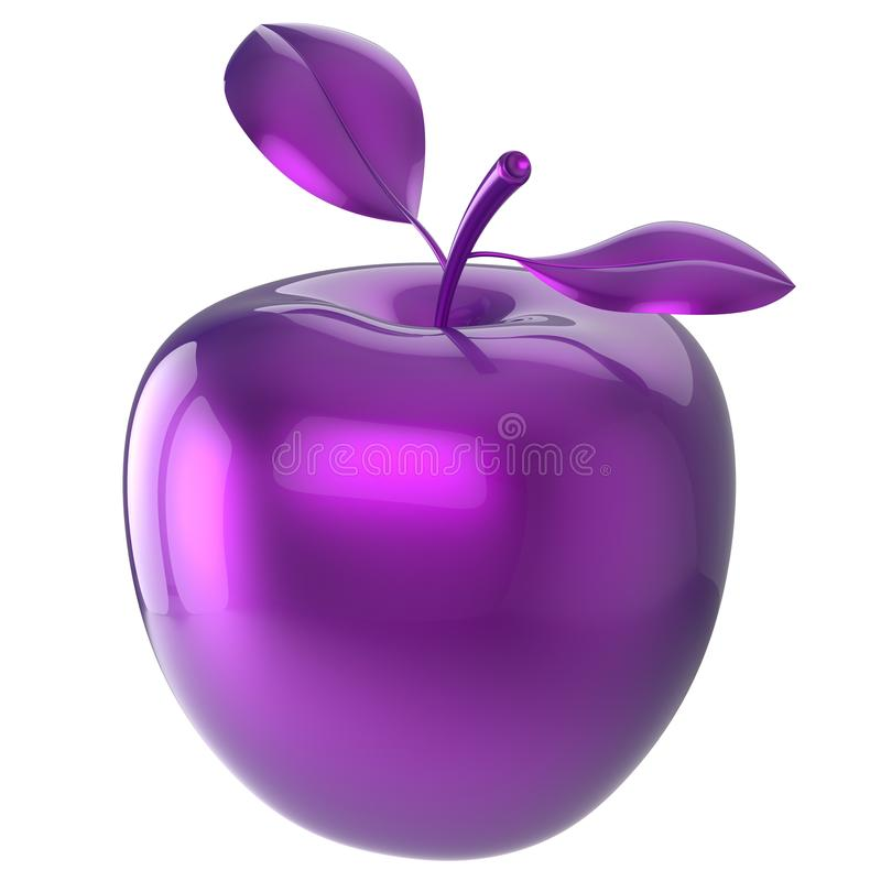 Purple apple food blue research experiment nutrition fruit icon. Purple apple food blue research experiment nutrition fruit antioxidant fresh ripe exotic danger stock illustration