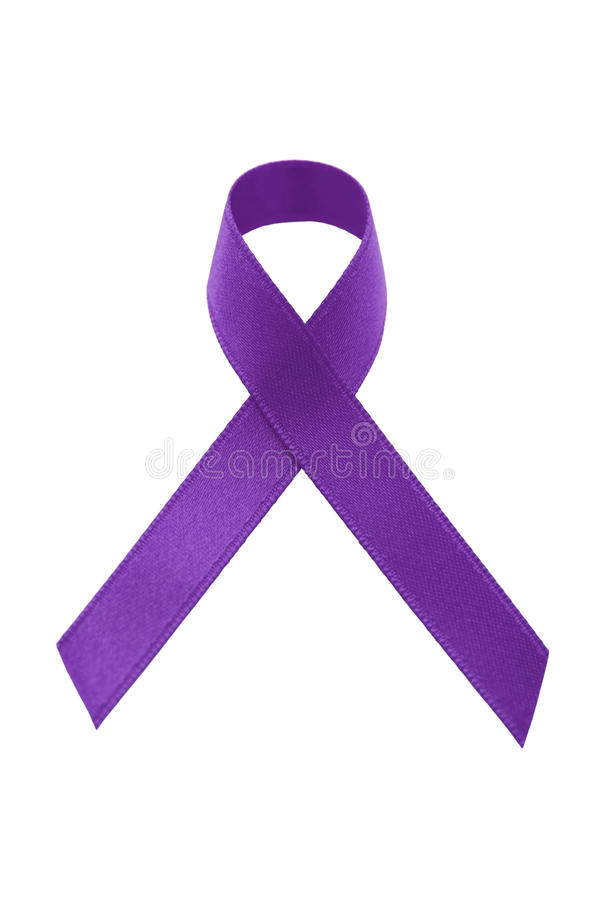 Download A purple awareness ribbon stock image. Image of violence - 17036997