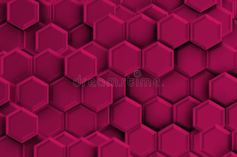 Purple backgound with hexagons. royalty free illustration