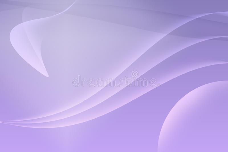 The purple background is abstract. With white light rotating in a circular wave, drawn back and forth smoothly vector illustration