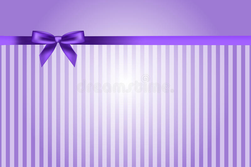 Download Purple background with bow stock vector. Image of present - 28250080