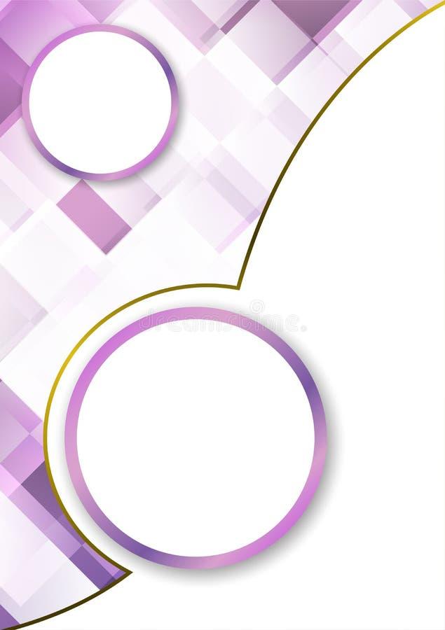 Purple background design a flyer brochure vertical vector royalty free illustration