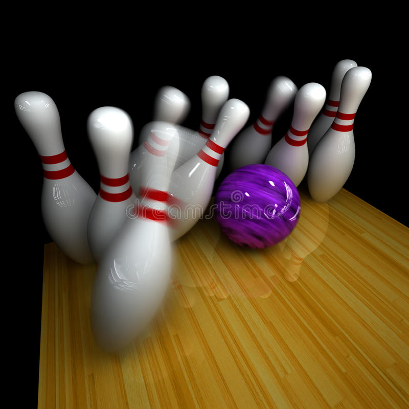 Download Purple ball does strike! stock illustration. Image of bowl - 17514929