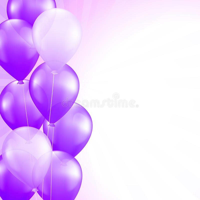 Purple balloons stock illustration