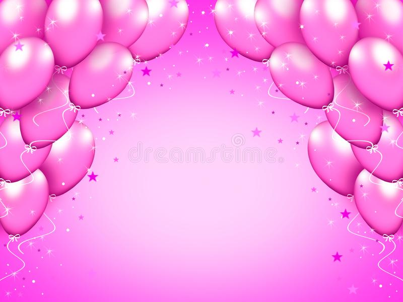 Purple balloons. royalty free illustration