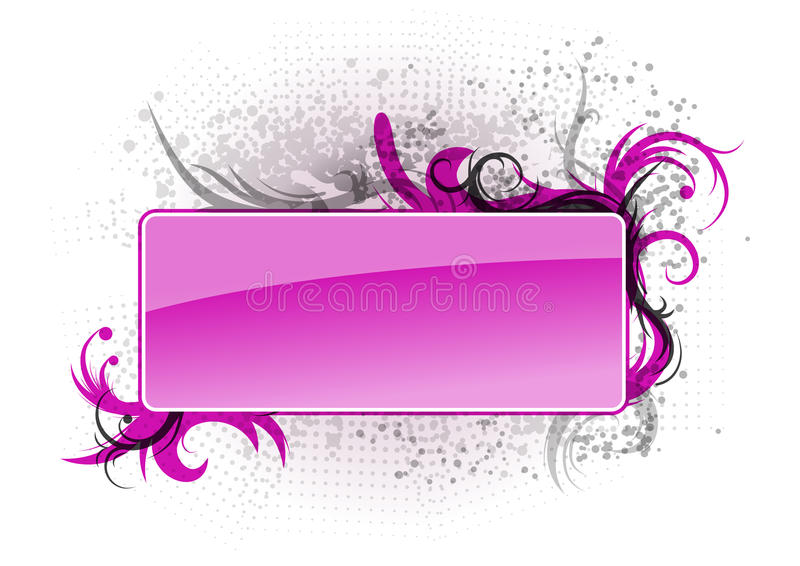 Download Purple banner stock vector. Illustration of decor, decoration - 19663634