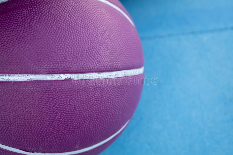 Purple basketball ball. With white lines royalty free stock images