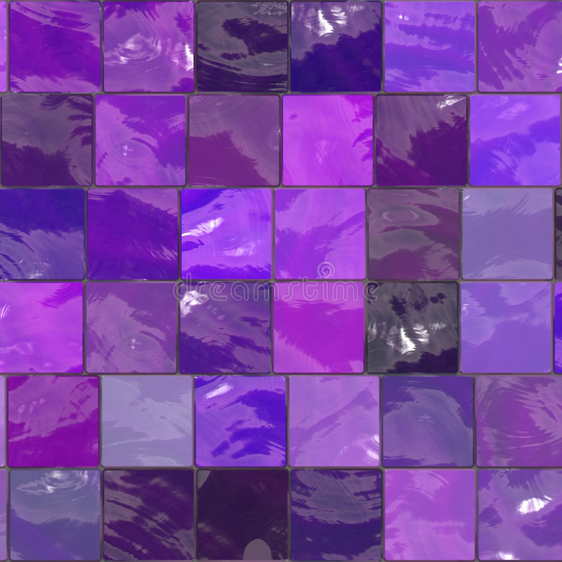 Purple bathroom tiles. Purple bathroom mosaic tiles texture stock illustration