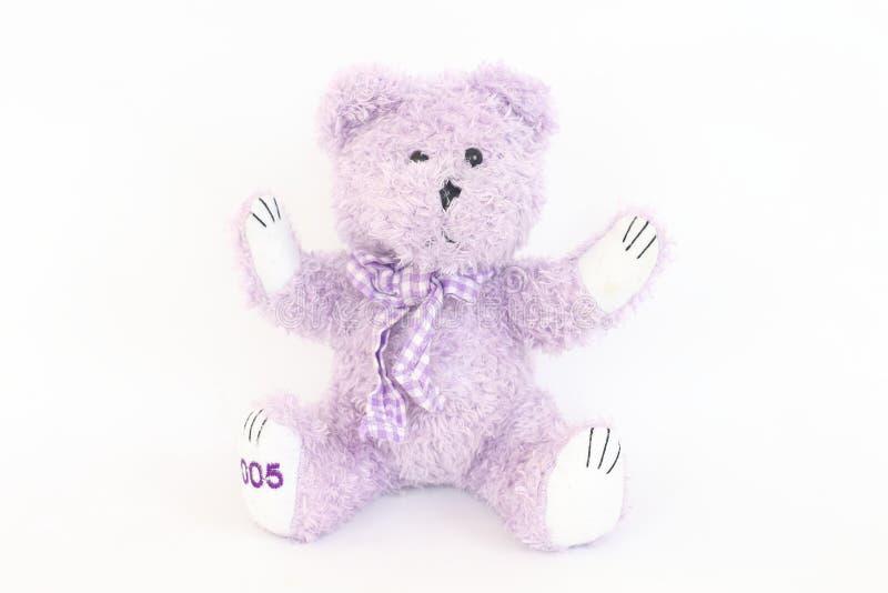 Purple bear on a white background. Purple bear on a white background Look cute stock photo