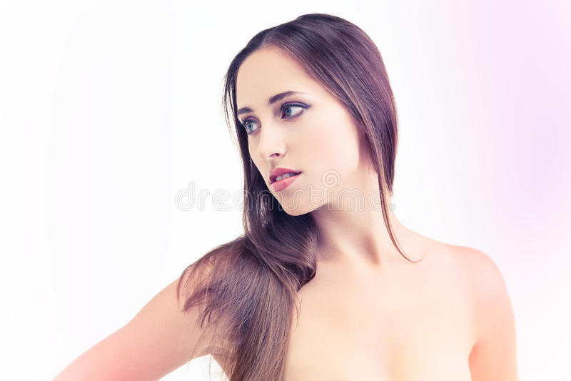 Download Purple beauty stock photo. Image of human, girl, brunette - 26562102
