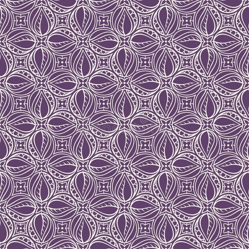 Purple and beige floral pattern vector illustration