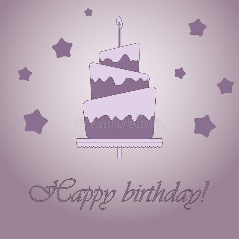 Purple Birthday Card Stock Vector Illustration Of Fire 15985487