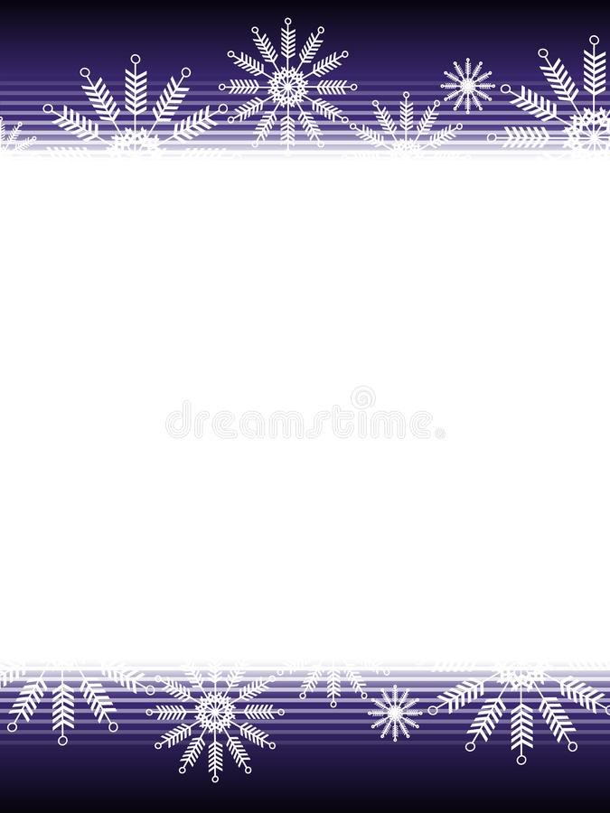 Purple Black Christmas Snowflake Background royalty free stock image