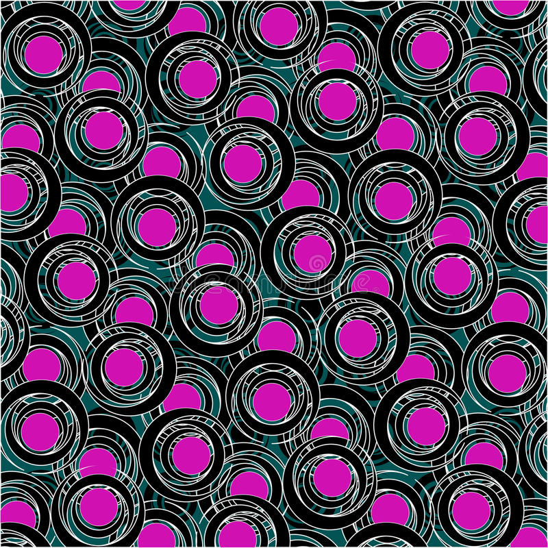 Purple and black circle pattern. Art illustration; more drawings and patterns in my gallery vector illustration