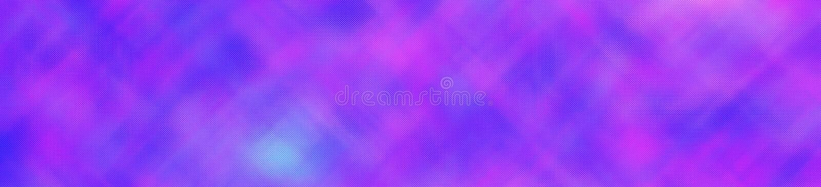 Purple and blue bright through Tiny Glass in banner shape background illustration. royalty free stock photo
