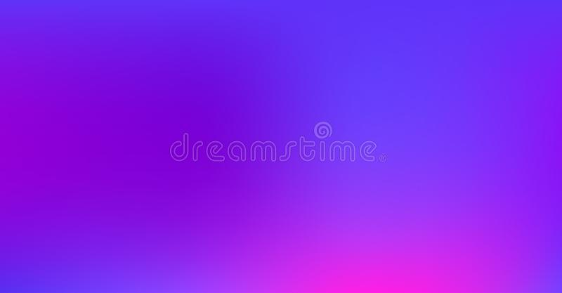 Purple Blue Gradient Vibrant Dreamy Vector Background. Sunrise, Sunset, Sky, Overlay Neon Digital Funky Cool Tech Gradient Paper. royalty free illustration