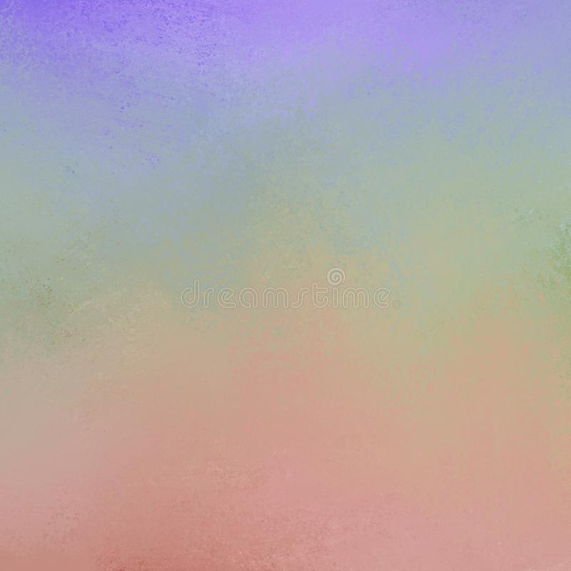 Purple blue green yellow orange red and pink paint all blended together with sponge distressed texturein soft color background. Soft gradient color background in stock photos