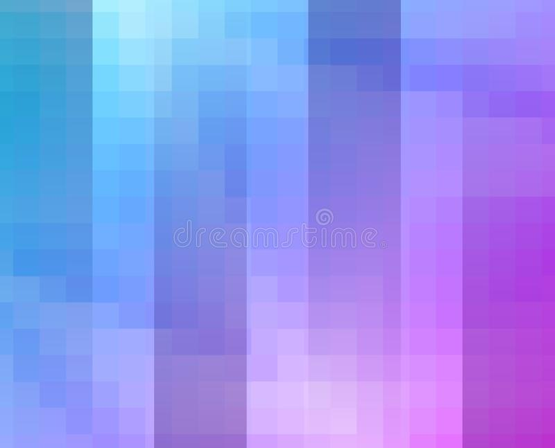 Purple Blue Grid Mosaic Background, Creative Design Templates. vector illustration