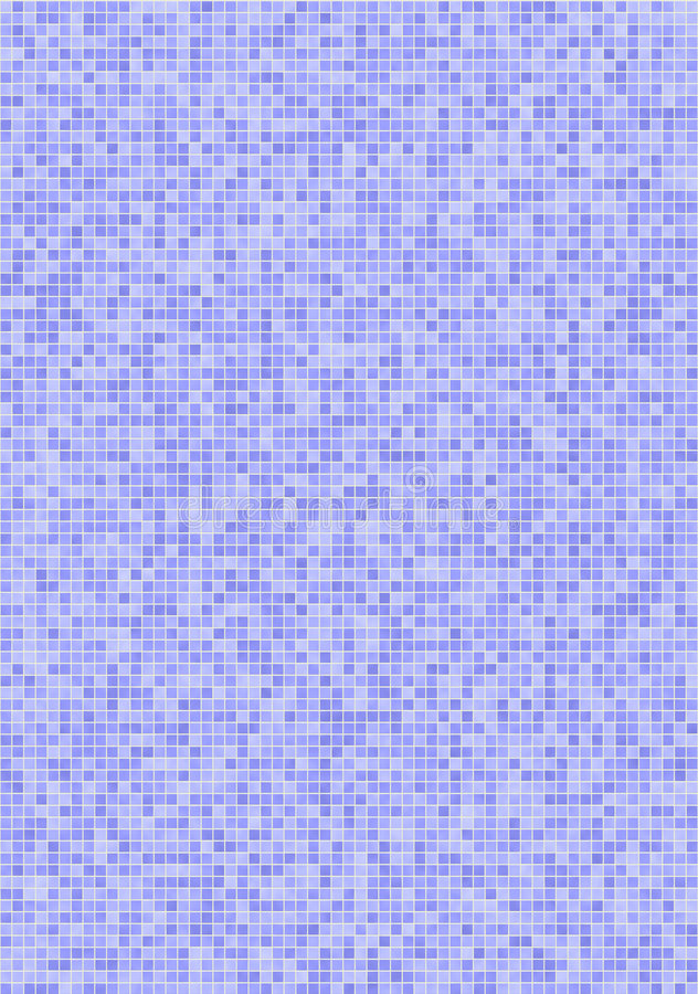 Purple-blue mosaic tiles royalty free illustration