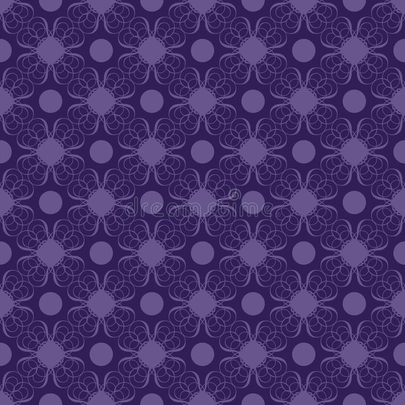 Download Purple And Blue Swirly Damask Seamless Pattern Royalty Free Stock Photography - Image: 19313417