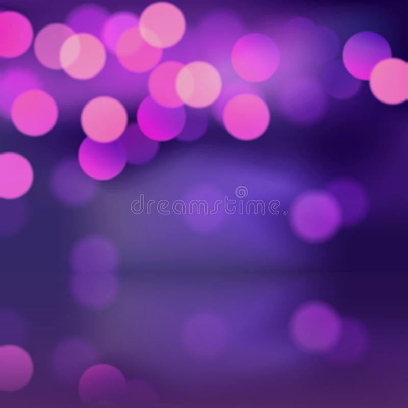 Purple bokeh blurred background . Illustration concept royalty free stock images