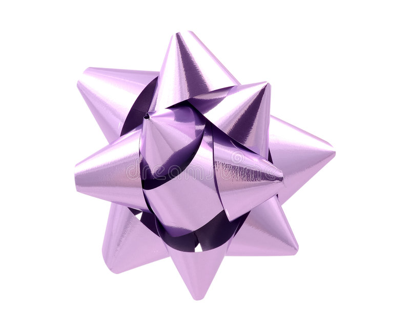 Purple Bow - Clipping Path royalty free stock photo