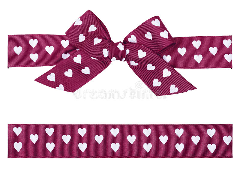 Purple Bow And Ribbon Stock Images