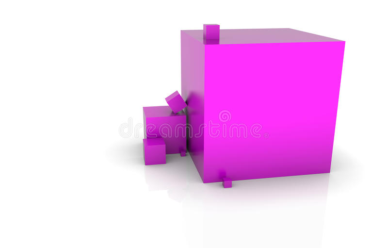 Purple boxes royalty free stock images