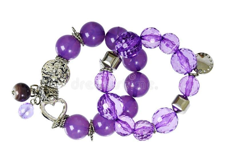 Purple bracelet royalty free stock photo