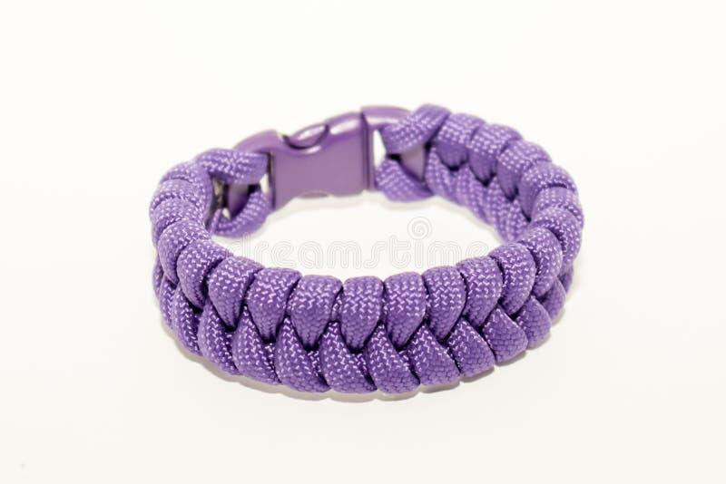 Purple bracelet royalty free stock photography