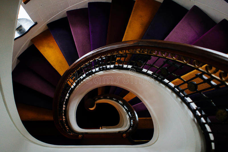 Purple Brown And Black Spiral Staircase Free Public Domain Cc0 Image
