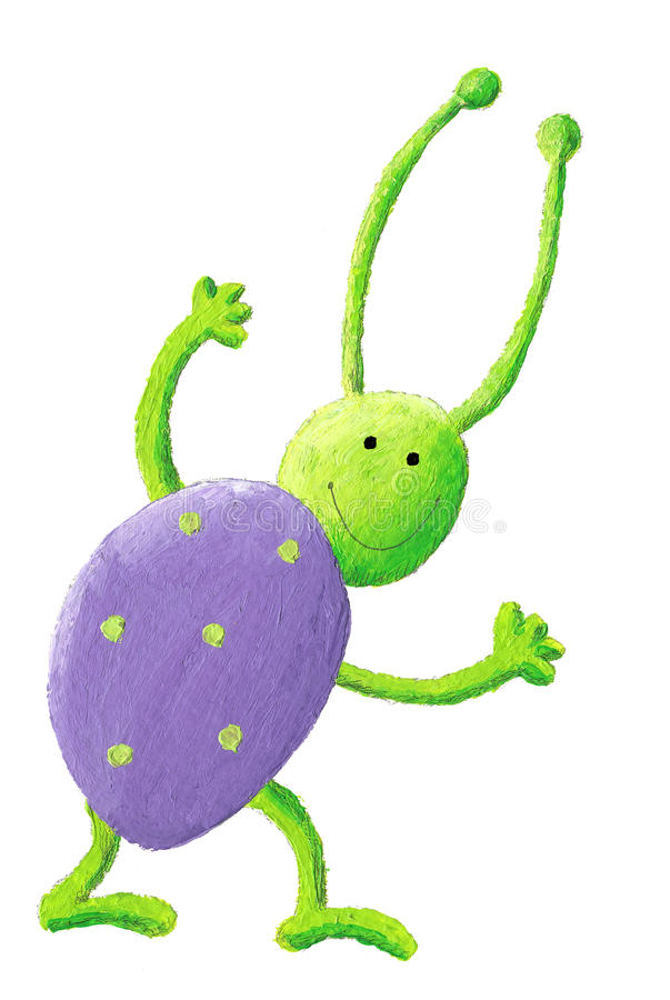 Download Purple bug stock illustration. Image of illustration - 15872439