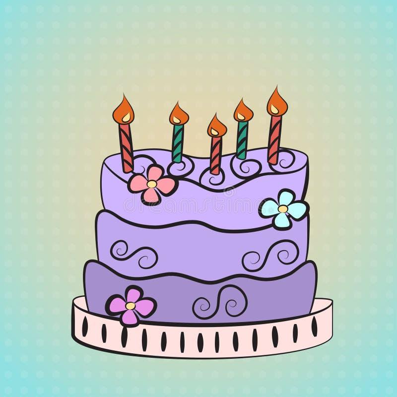 Purple Cake Stock Photos