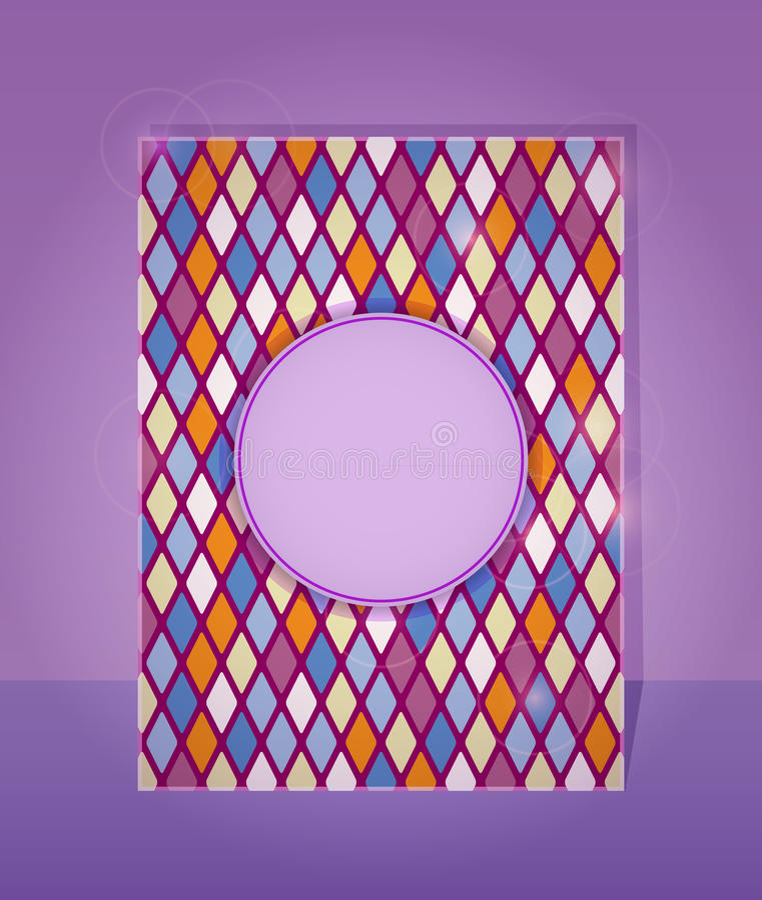 Purple Card In Rhombus Pattern Stock Photos