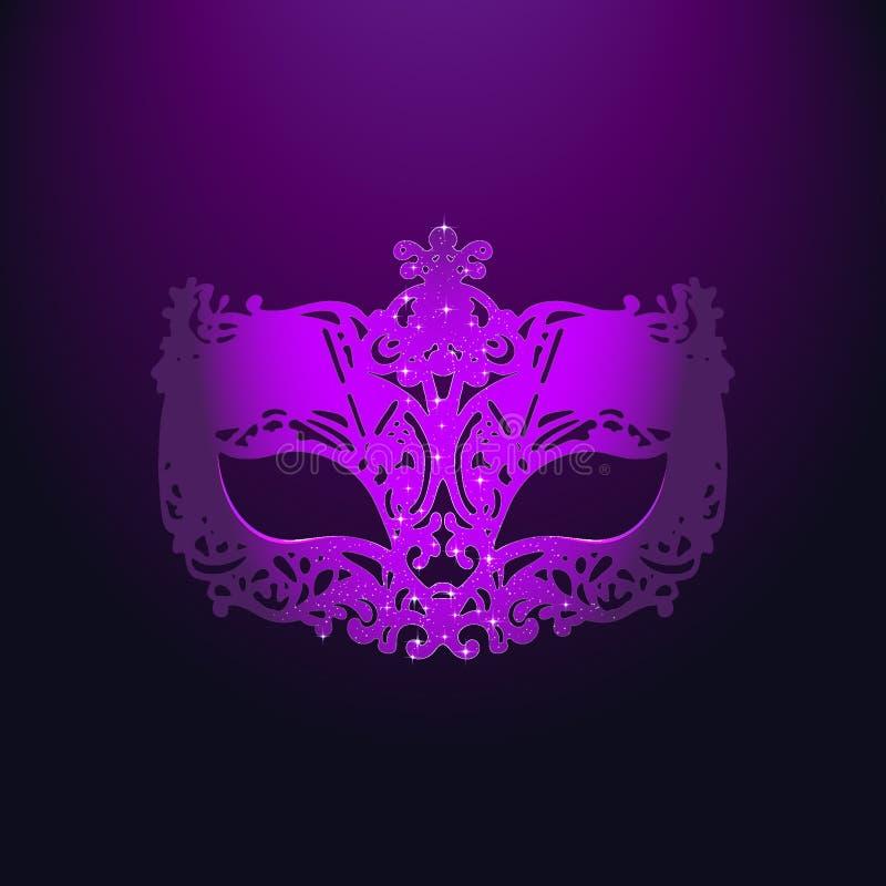 Purple Carnival Mask royalty free stock photos