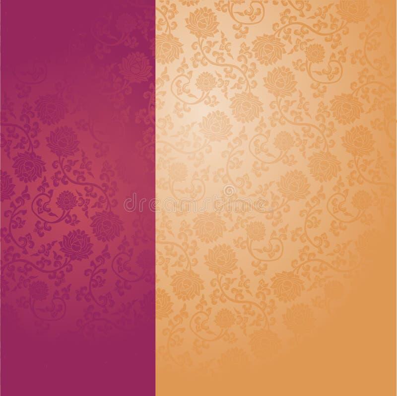 purple chinese lotus wallpaper vertical banner stock