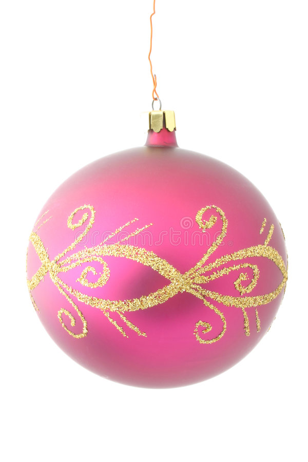Purple christmas ball - isolated royalty free stock images
