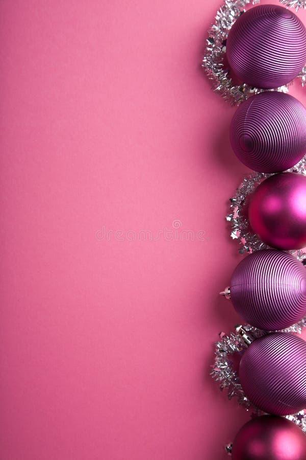 Download Purple Christmas Balls Border Stock Photo - Image: 22083070