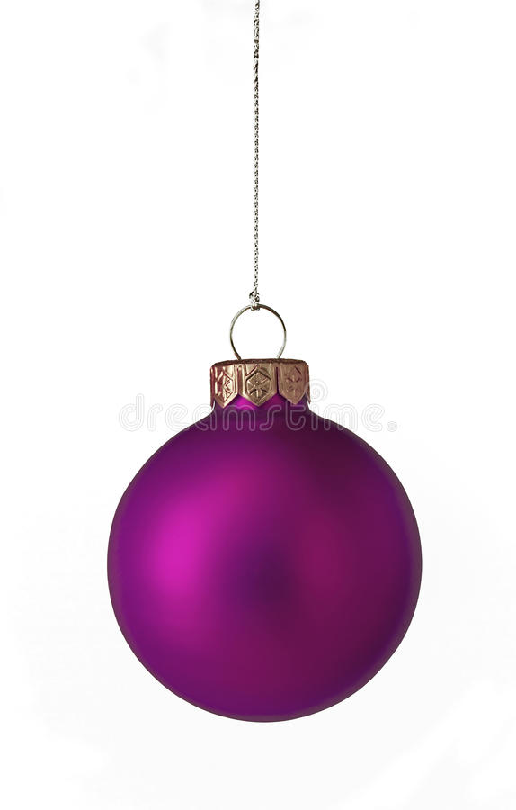 Free Purple Christmas Bauble Royalty Free Stock Image - 25016856